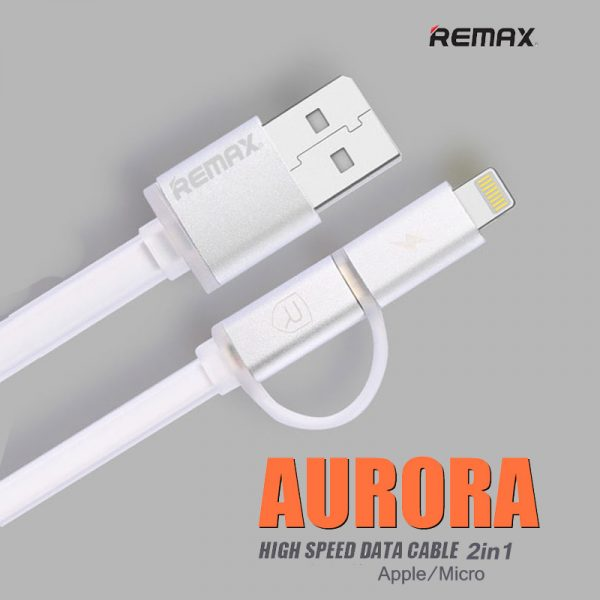 สายชาร์จ remax aurora lightning microusb