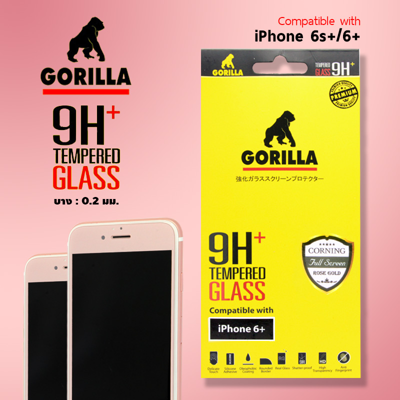 ฟิล์มกระจก เต็มจอ gorilla corning rose gold iphone 6s