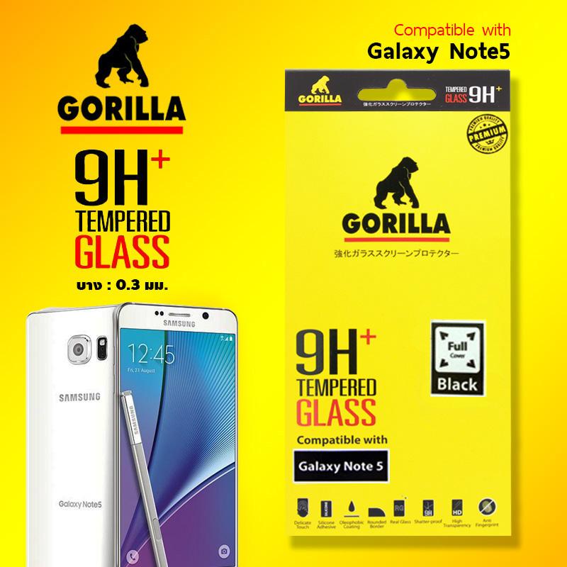 ฟิล์มกระจก note5 gorilla tg full
