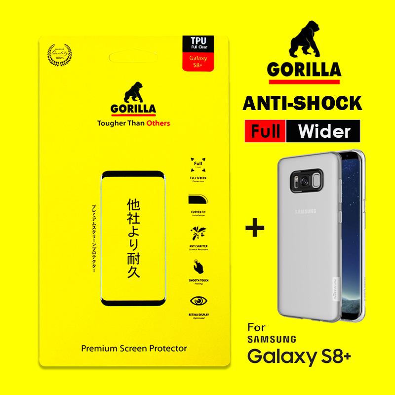 ฟิล์ม s8 gorilla anti Shock เต็มจอ อ้อมหลัง