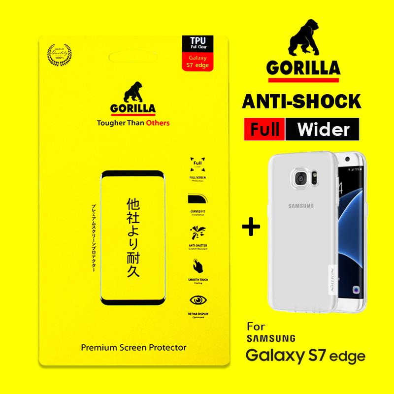 ฟิล์มอ้อมหลัง s7 edge gorilla anti Shock เต็มจอ อ้อมหลัง