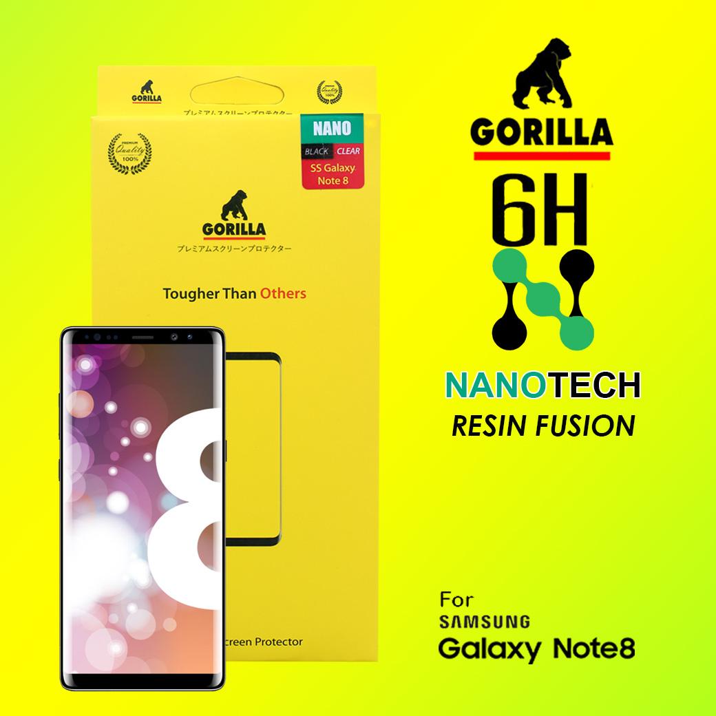ฟิล์มนาโน กอลิล่า note8 gorilla nanotech resin