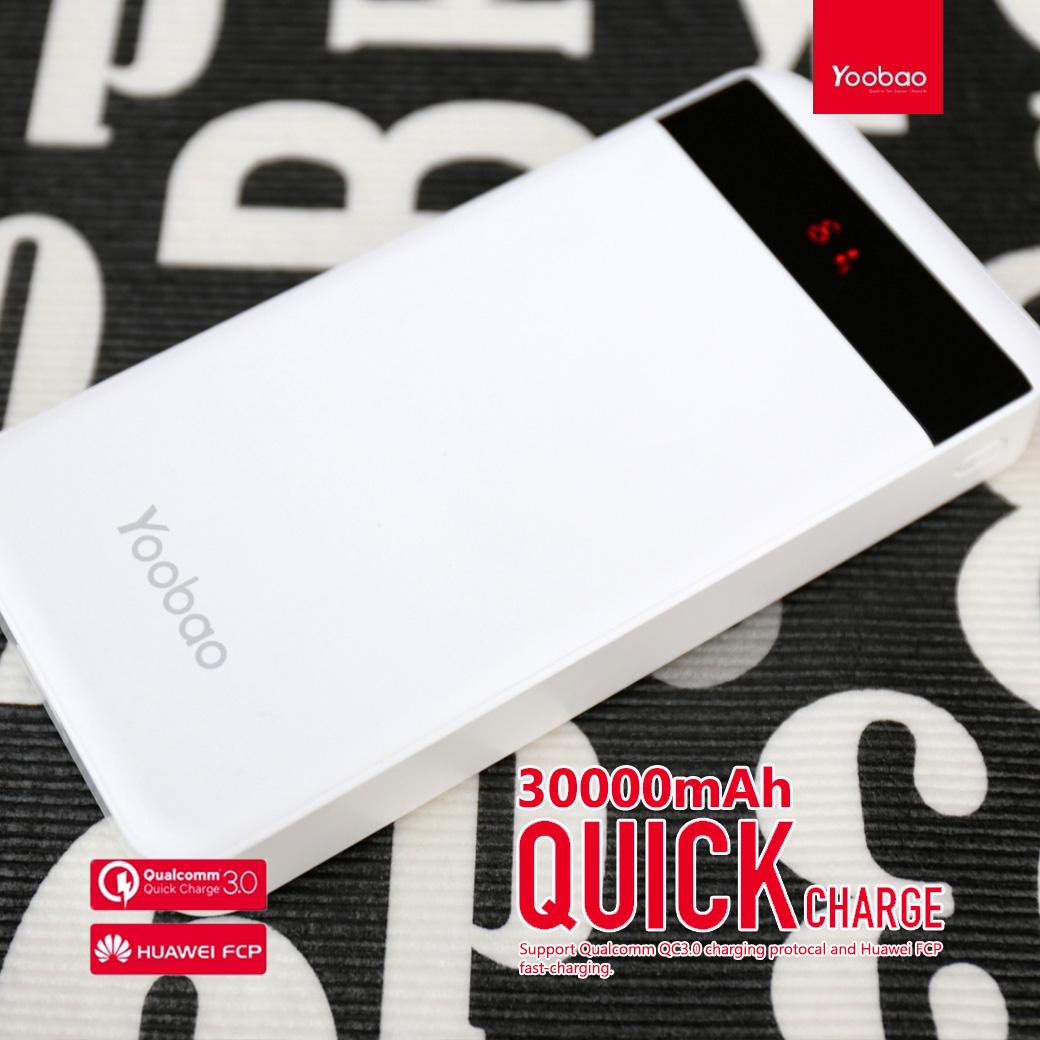 แบตสำรอง yoobao 30000 q30 fast charge