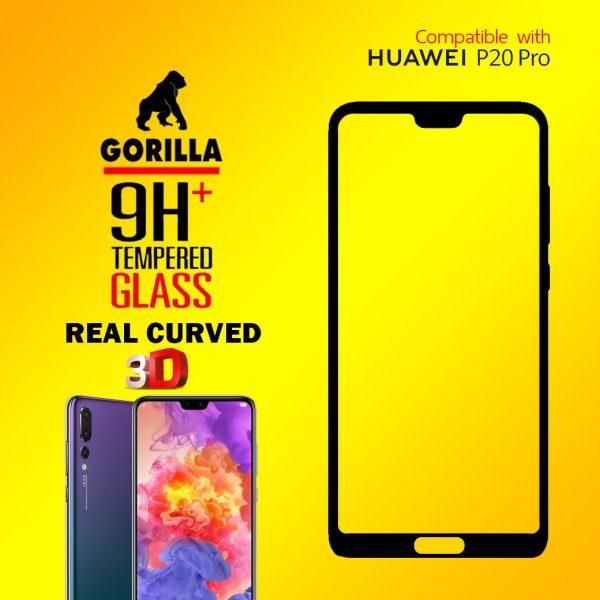 ฟิล์มกระจก p20 pro gorilla 3d real curved
