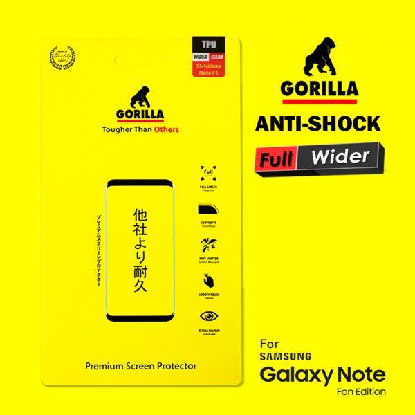 ฟิล์มอ้อมหลัง note fe gorilla anti Shock เต็มจอ อ้อมหลัง