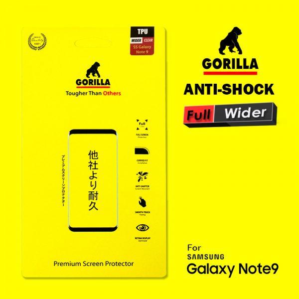 ฟิล์ม tpu อ้อมหลัง note9 gorilla anti Shock เต็มจอ อ้อมหลัง