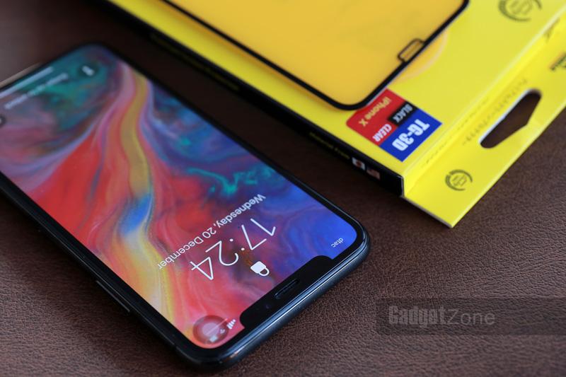 ฟิล์มกระจก iphone xs max gorilla tg 3d