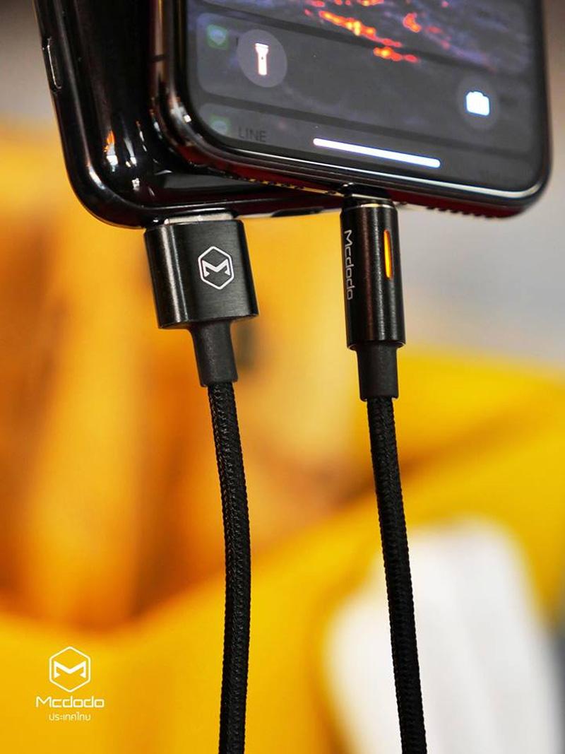 สายชาร์จไอโฟน ตัดไฟอัตโนมัติ mcdodo auto disconnect gen2