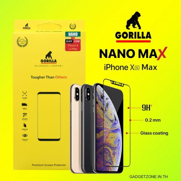 ฟิล์ม iphone xs max gorilla nano max