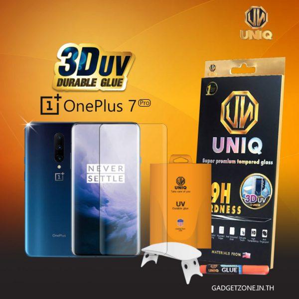 ฟิล์มกระจก oneplus 7 pro uniq 3d uv
