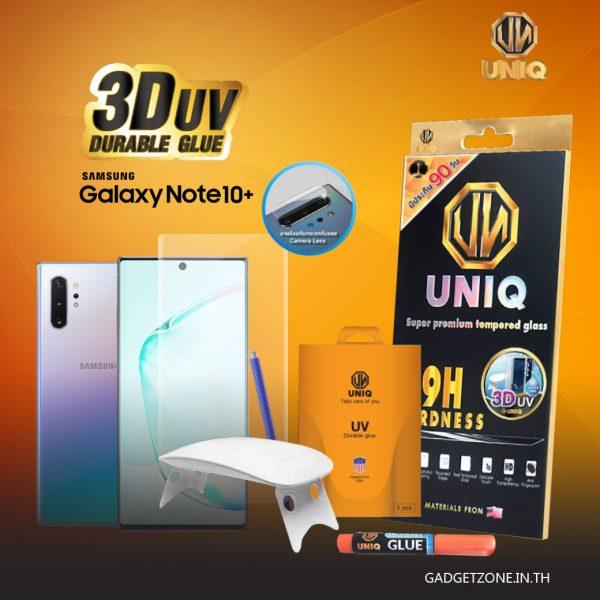 ฟิล์มกระจก note10+ uniq 3d uv