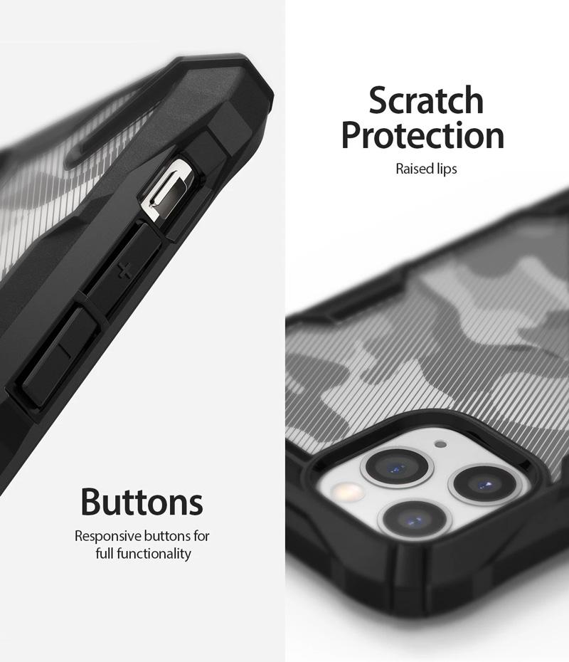 เคส iphone pro max ringke fusion x camo black