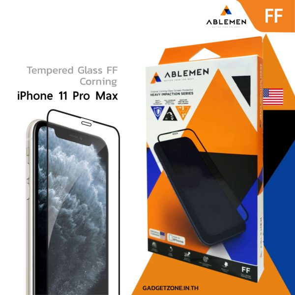 ฟิล์ม iphone 11 pro max ablemen ff corning